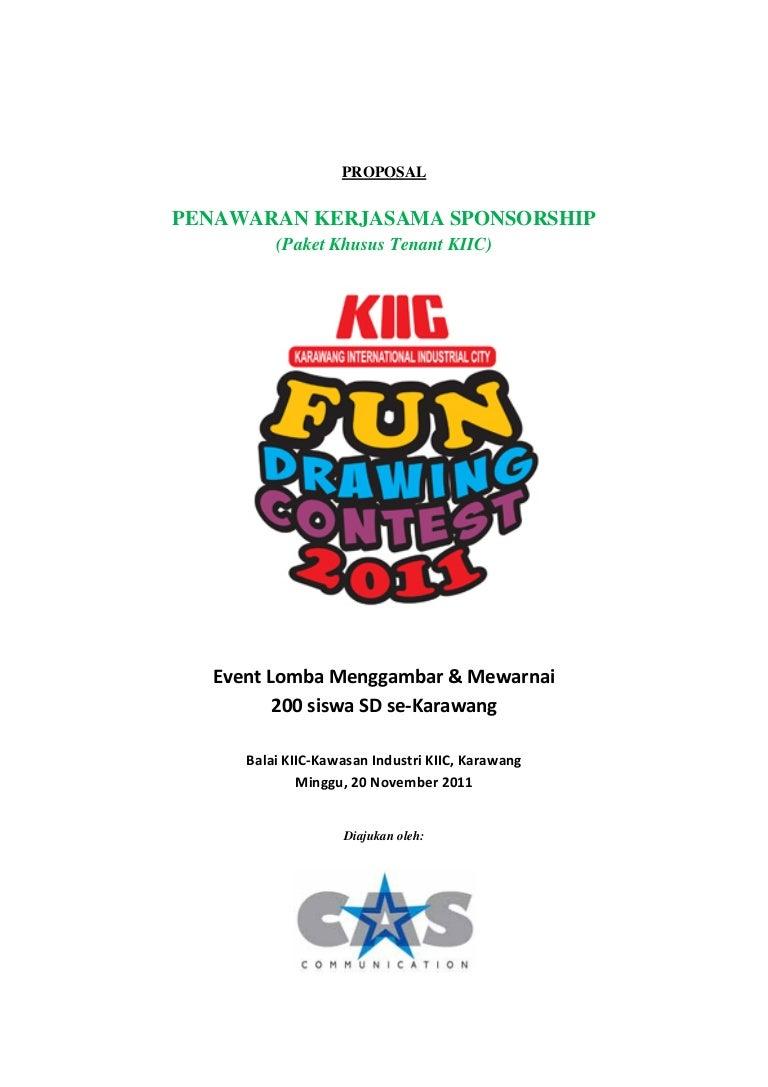 Proposal Sponsorship Fun Drawing Contest