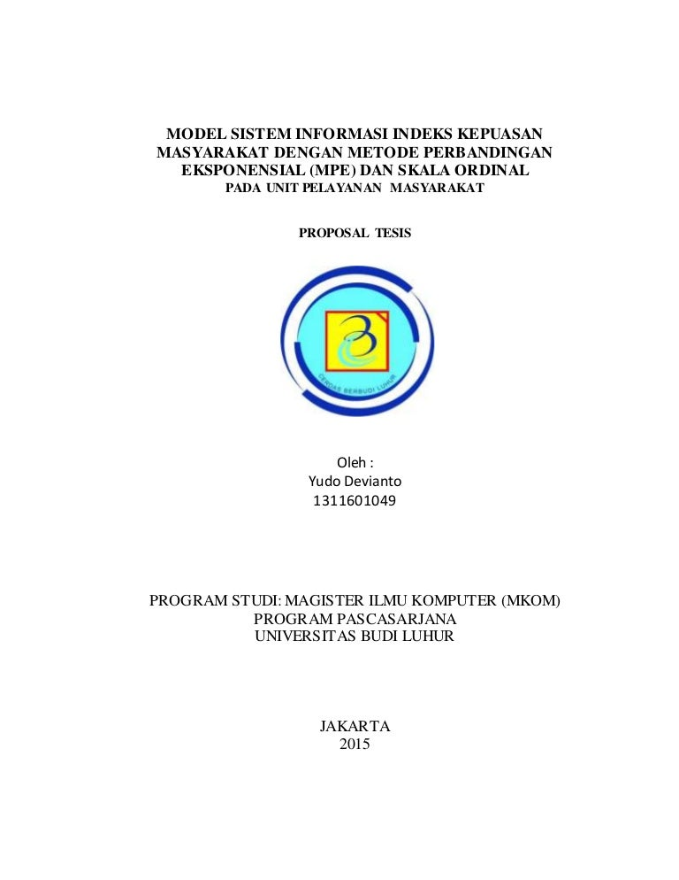 Proposal Tesis Ilmu Komputer