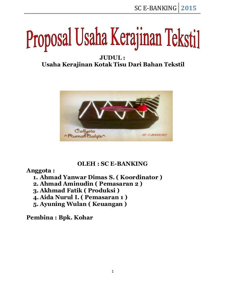 Proposal usaha judul