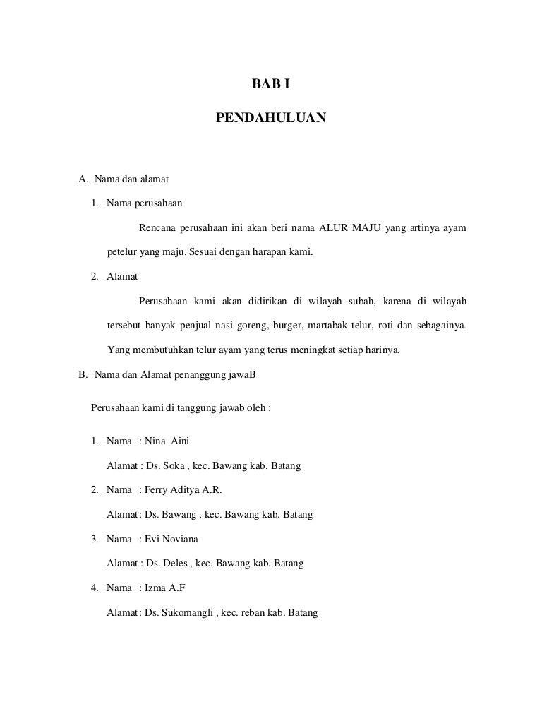 Proposal Usaha Peternak Ayam Kewirausahaan
