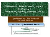 Wetland and Stream Crossing Impacts of Proposed M-83