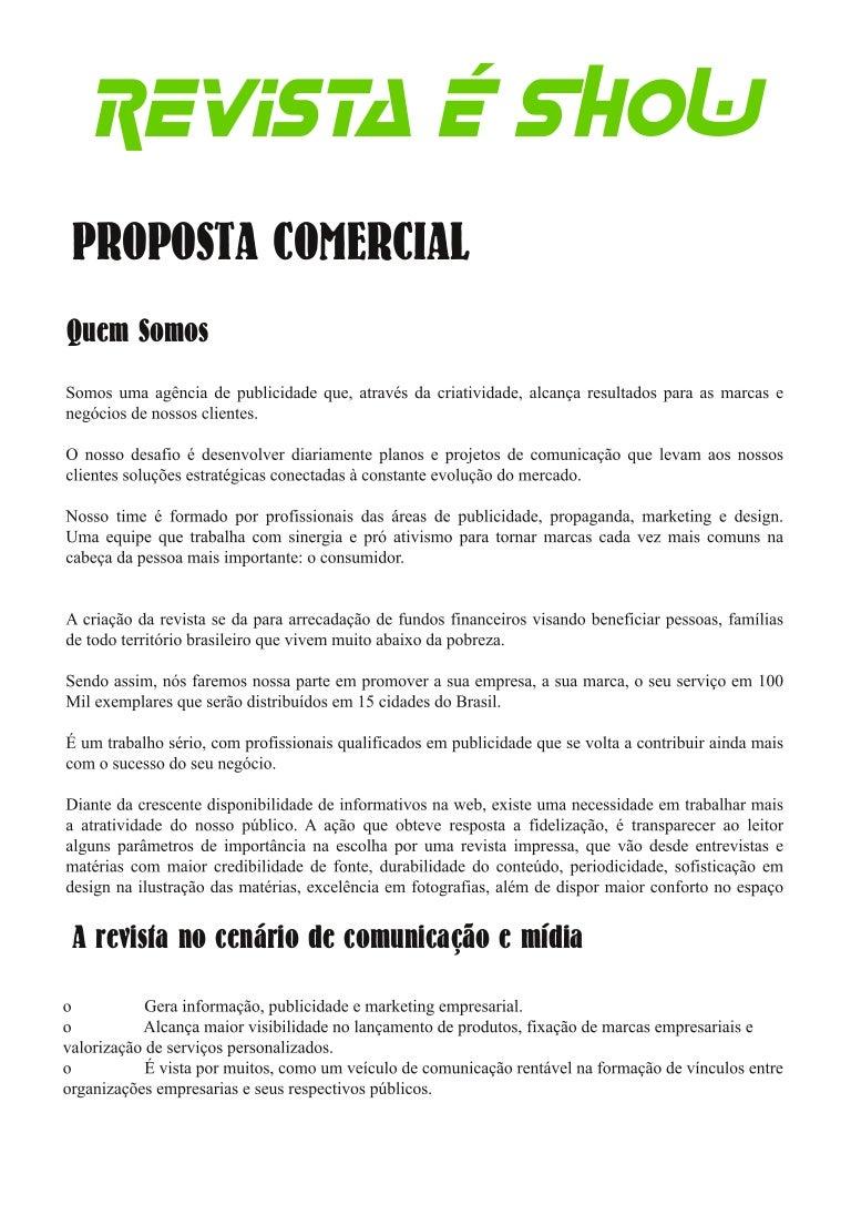 Carta Proposta Monografia Serviço Personalizado