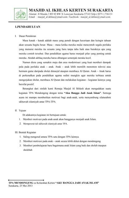 1 Formulir Pendaftaran Tpa