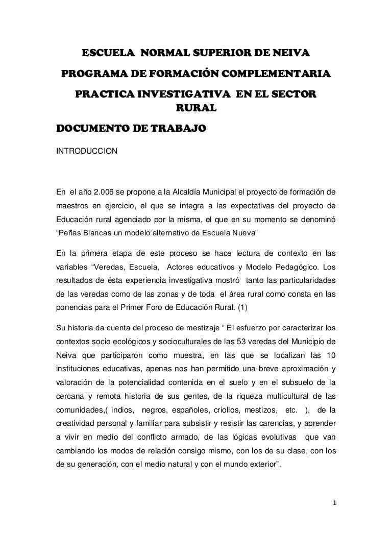 Propuesta Curricular Primaria Rural ENS Neiva
