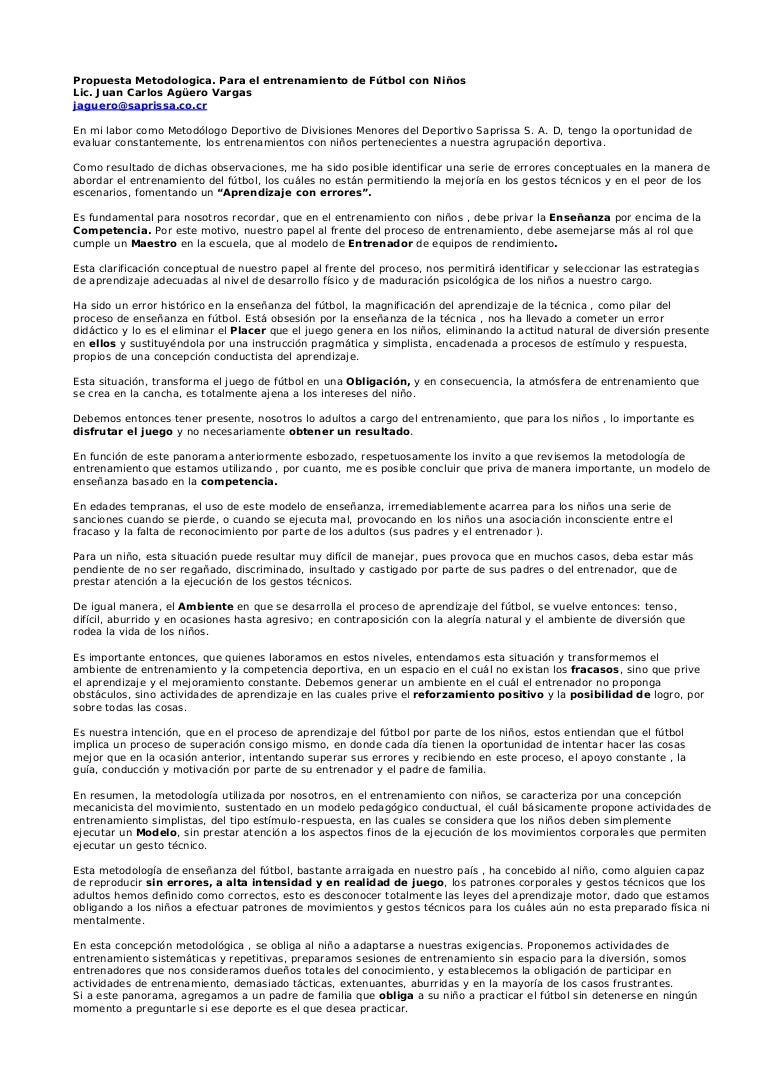 Propuesta+metodologica+para+el+entrenamiento+con+niños
