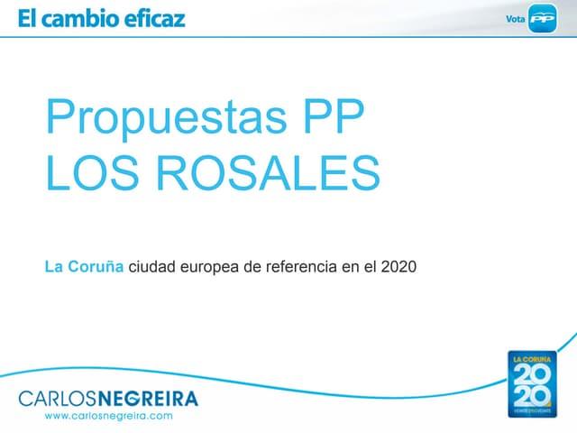 Propuestas PP para el barrio de Los Rosales