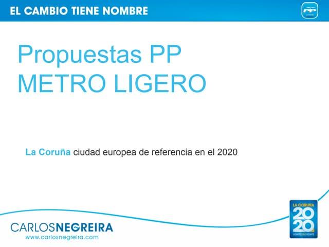 Propuestas pp metro ligero metropolitano