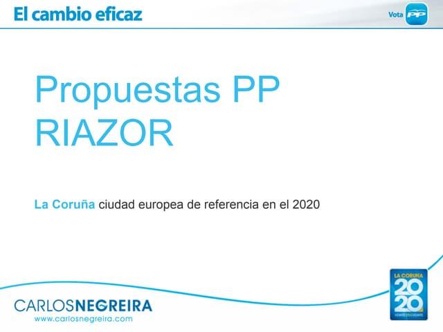 Propuestas del Partido Popular para Riazor