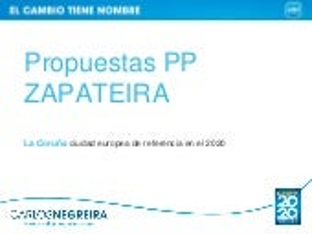 Carlos Negreira -Propuestas PP-Zapateira