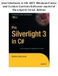 Pro silverlight 3 in c# (expert's voice in silverlight) 1st edition pdf ebook full free
