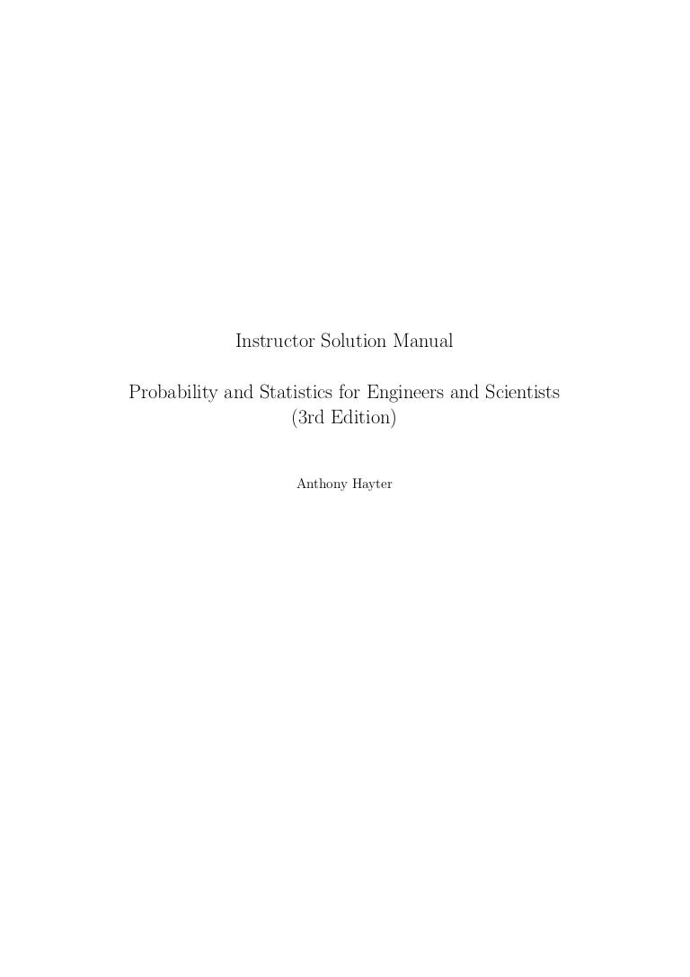 manual solution probability and statistic hayter 4th edition rh slideshare net