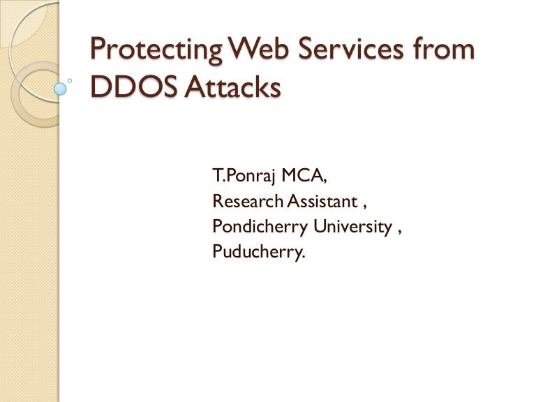 Len Klassisches Design protecting web services from ddos attack