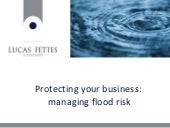 Protecting your business - managing flood risk