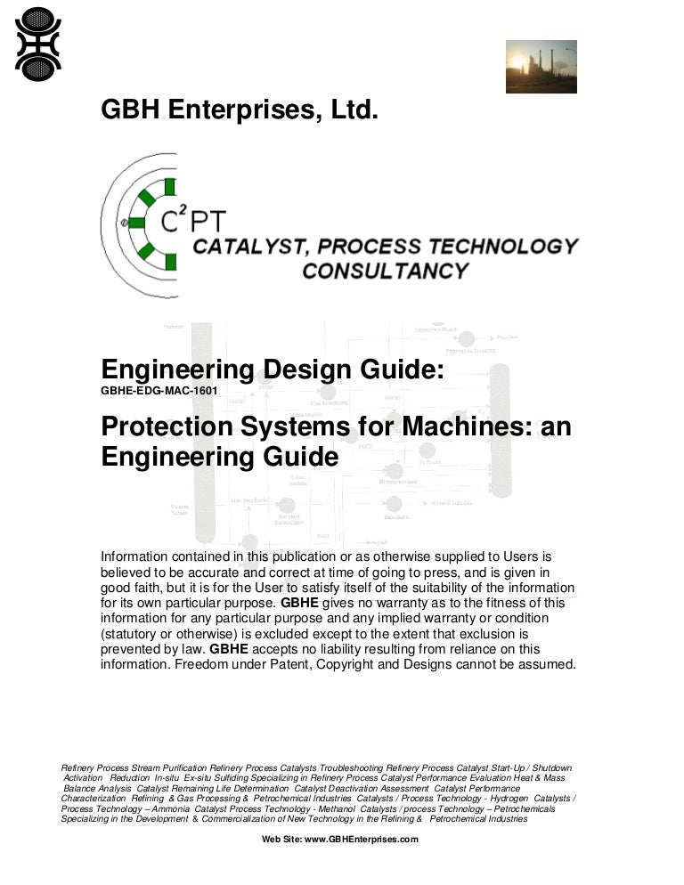 protection systems for machines an engineering guide rh slideshare net Petrochemical Feedstocks Petrochemical Plant