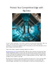 Protect Your Competitive Edge with Big Data