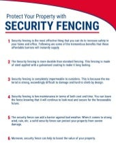 Protect Your Property with Security Fencing