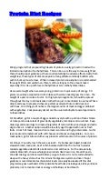 Protein Diet Recipes