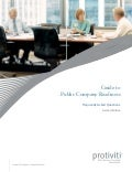 Protiviti's guide to public company readiness second edition - 2013