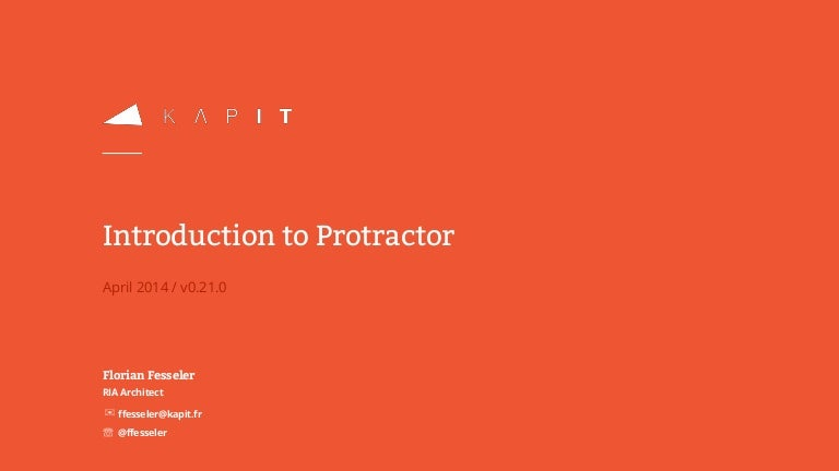 Introduction to Protractor