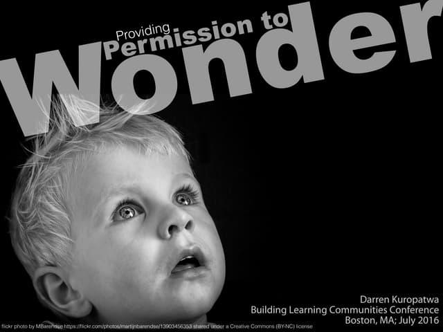 Providing Permission to Wonder v2