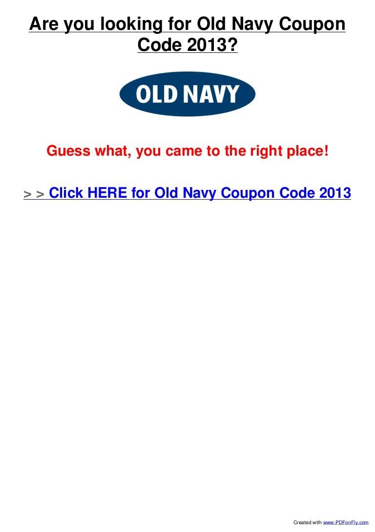 0062f7de3 Old Navy Coupon Code 2013