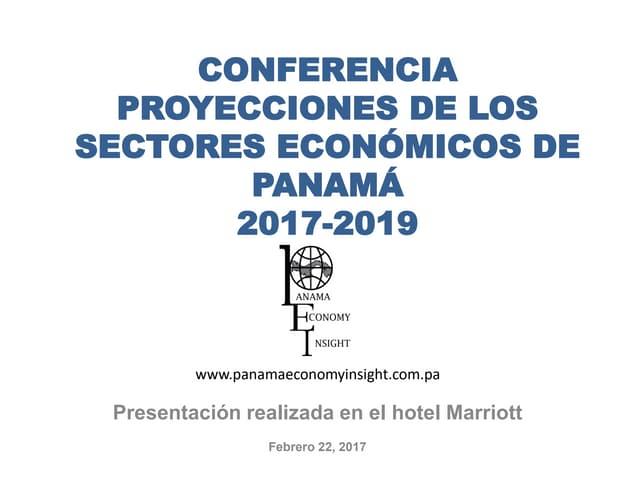 Proyecciones económicas de Panamá 2017-2019