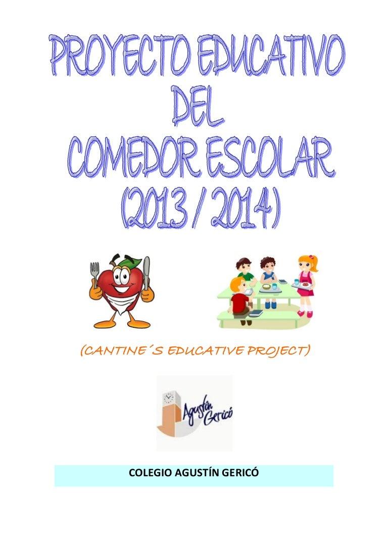 proyecto comedor escolar 2013 2014