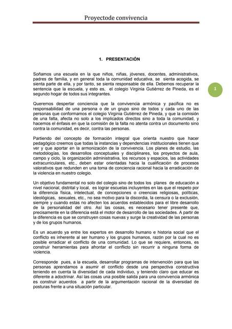 Proyecto de convivencia 2011 vgp