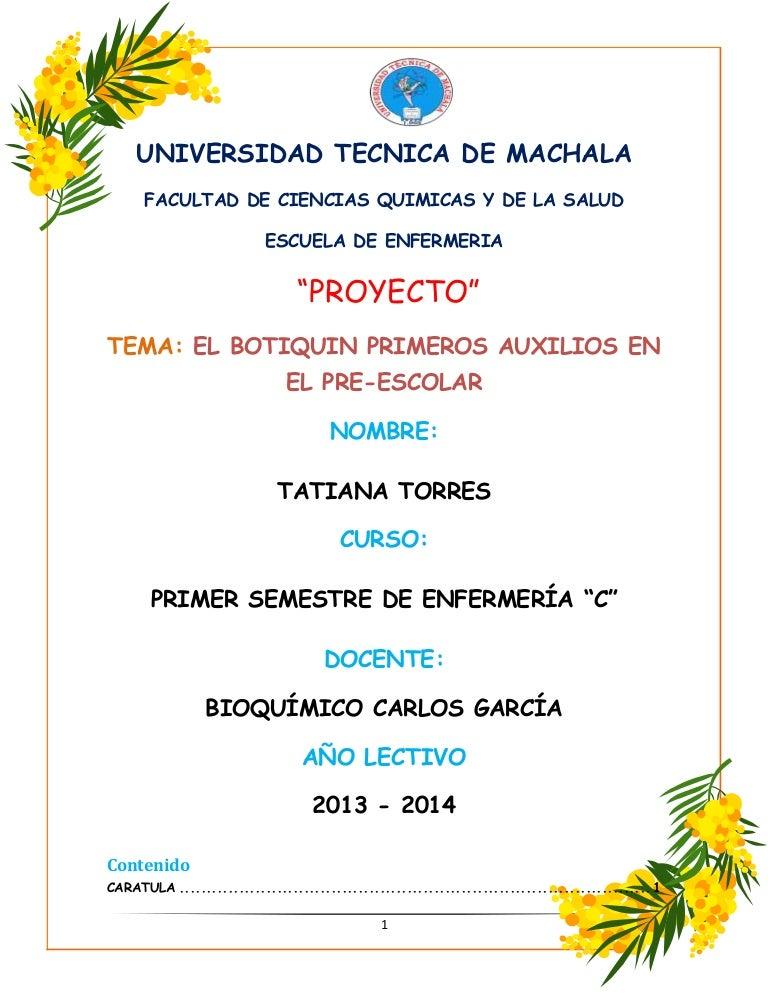Proyecto del botiquin for Proyecto comedor comunitario pdf