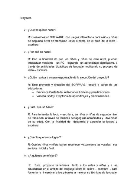 Proyecto lecto escritura  4