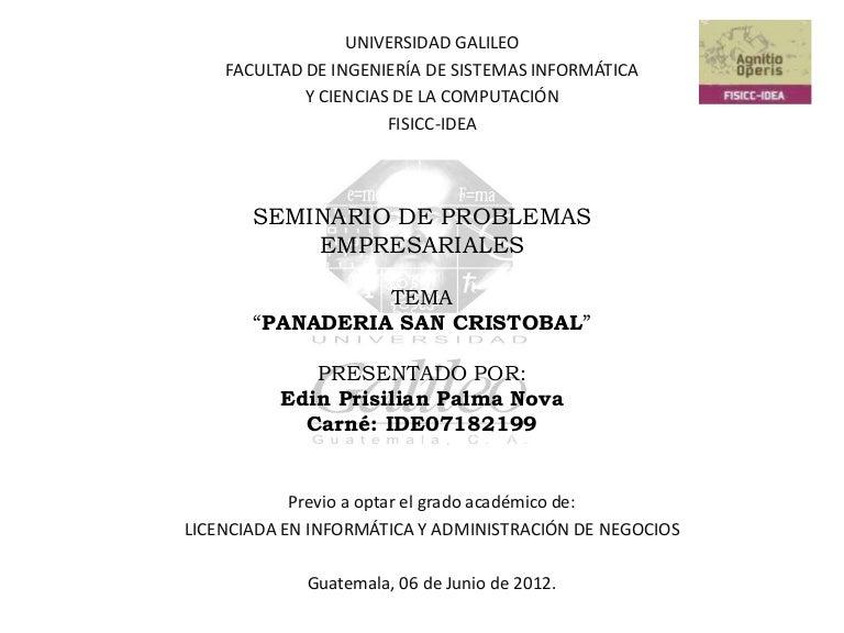 Proyecto Panaderia San Cristobal