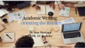 Module 4 - Academic Writing: Orienting the Reader
