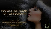 PRP Platelet Rich Plasma for Hair Regrowth by Dr. Alan Bauman