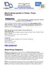 New business partner in Turkey - Proya Company