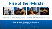 Rise of the Hybrids: Evolution of the PR and Communications Professional Prototype
