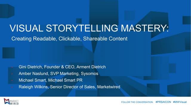 PRSA Visual Storytelling