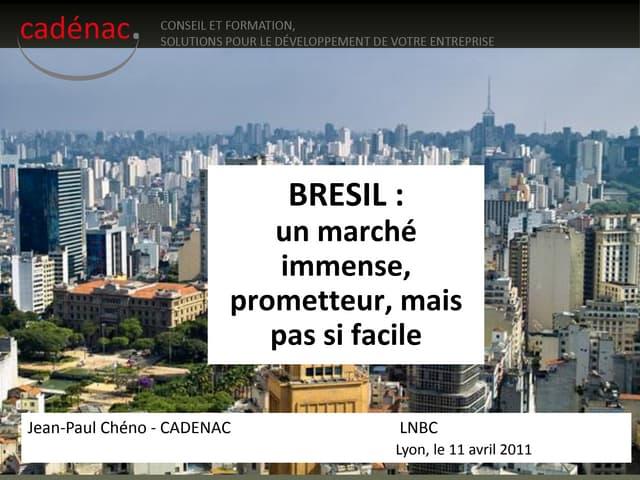 BRESIL_Présentation_Cadenac_ 2011