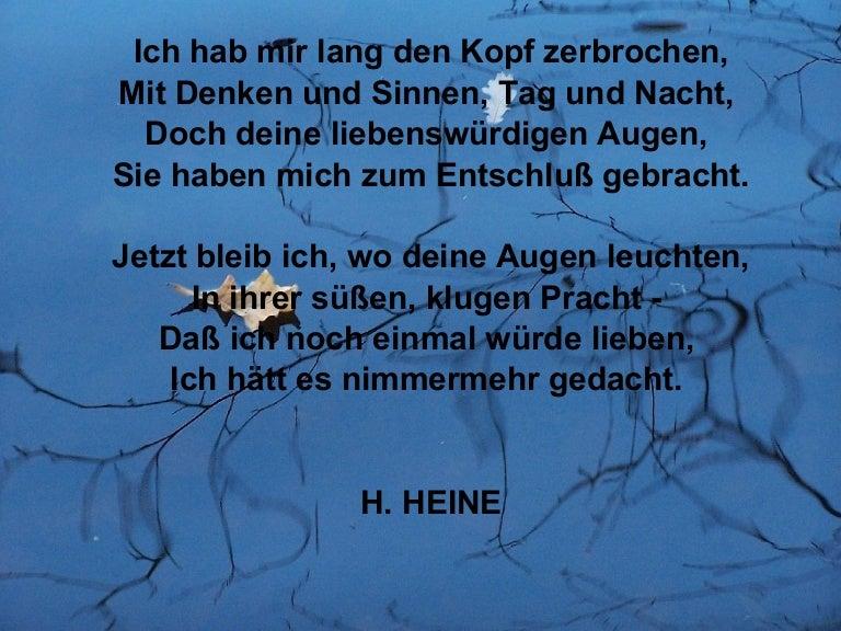 Lange gedichte deutsch