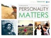 Personality Matters - Qualitative Online Research