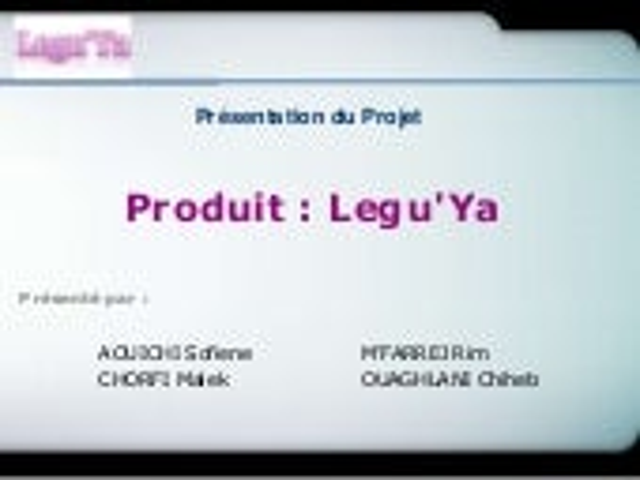 Présentation Legu'Ya