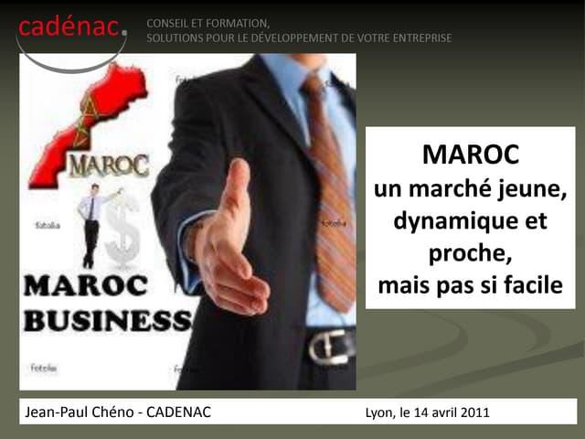 MAROC_Presentation_Cadenac_2011