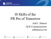 10 Skills of the PR Pro of Tomorrow