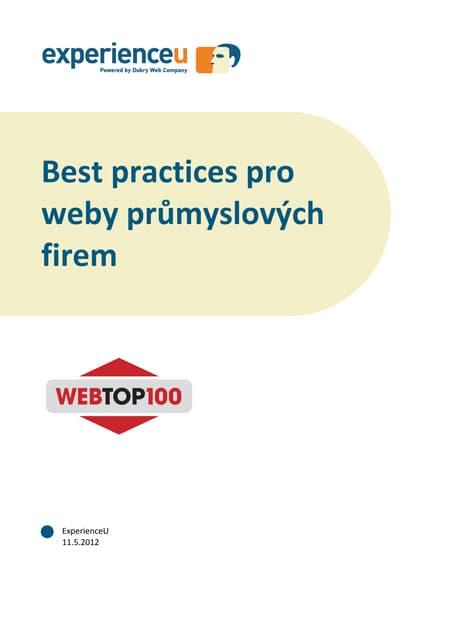 Best practices pro weby energetiky a průmyslu