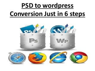 PSD to wordpress conversion just in 6 steps