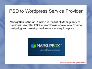 PSD to WordPress Service Provider
