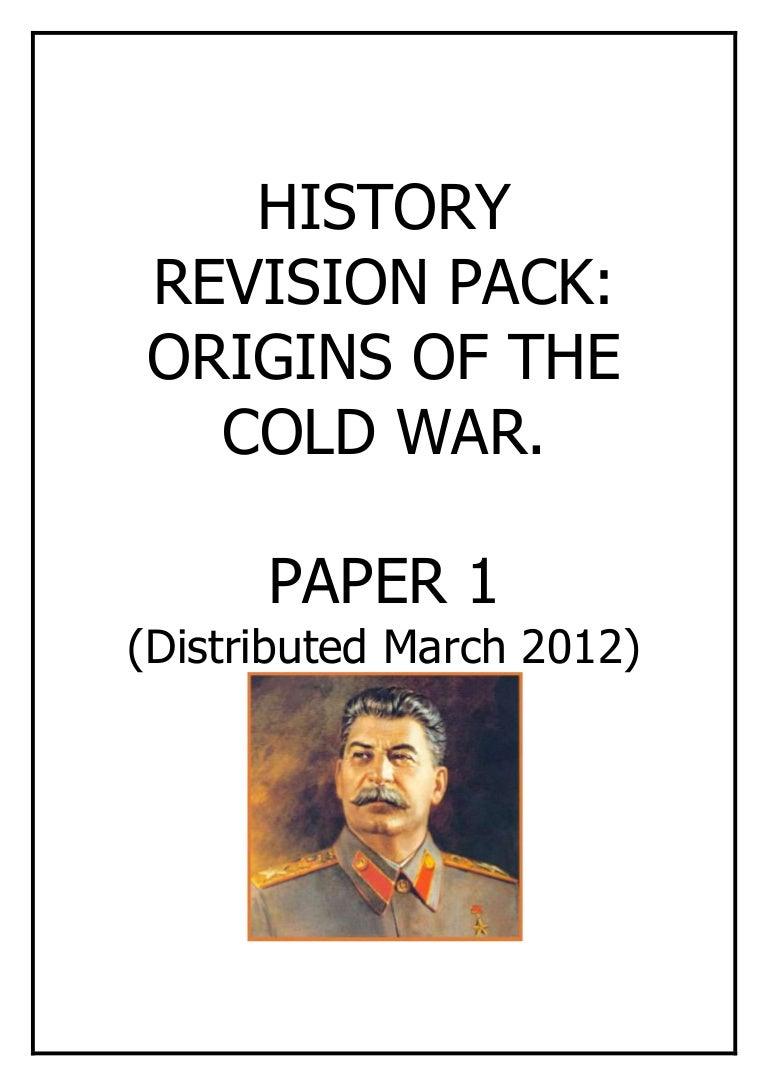 psh origins cold war revision pack