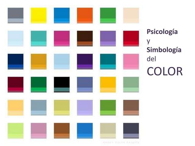 Psicologia y simbología del color
