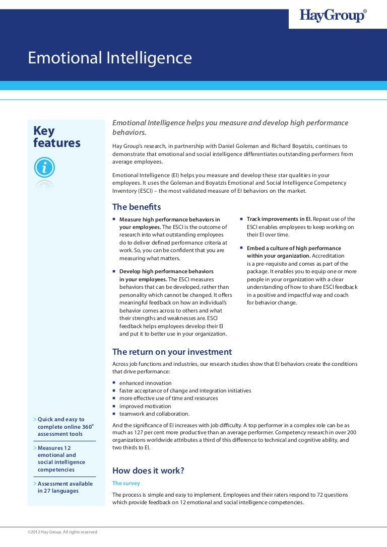 emotional intelligence factsheet