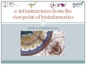 E-infrastructures from the Viewpoint of Bioinformatics