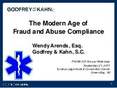 The Modern Age of Fraud and Abuse Compliance